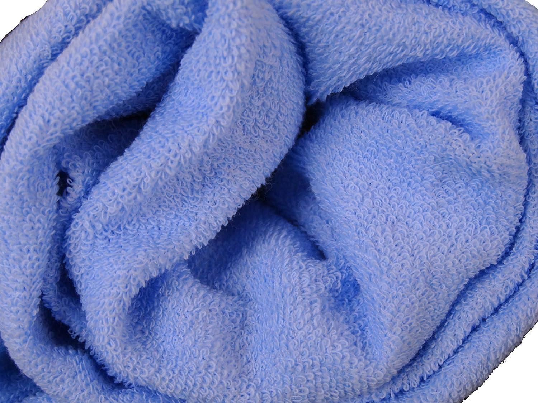 Babymajawelt Spannbetttuch Frottee 70x140 - 60x120 Spannbettlaken für Kinderbett blau 12333