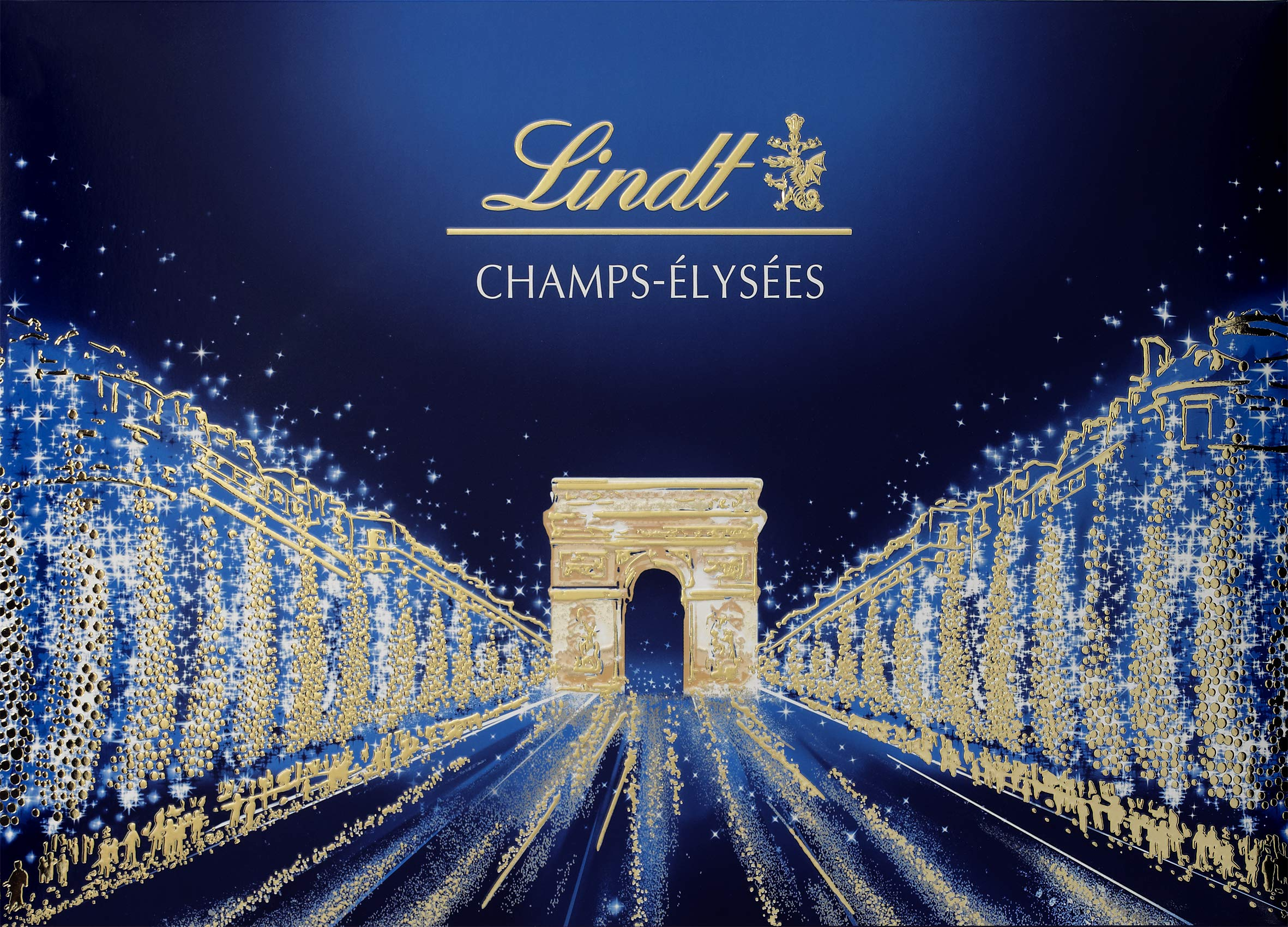 Lindt Champs Elysées Chocolate Box Gourmet Milk and Dark Chocolate Assortment 44 Chocolates 16.5oz by Lindt
