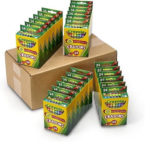 Crayola Crayons Bulk, 24 Crayon Packs with 24 Assorted Colors