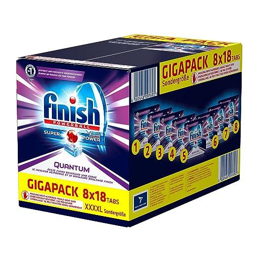 11 opinioni per Detersivo in pastiglie per lavastoviglie Finish Quantum, protegge brillantezza e