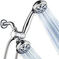 AquaDance Total Chrome High Pressure 3-way 48-setting Rain – Handheld Shower Head...