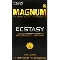 Trojan Magnum Ecstasy Ultrasmooth Lubricant,10-count