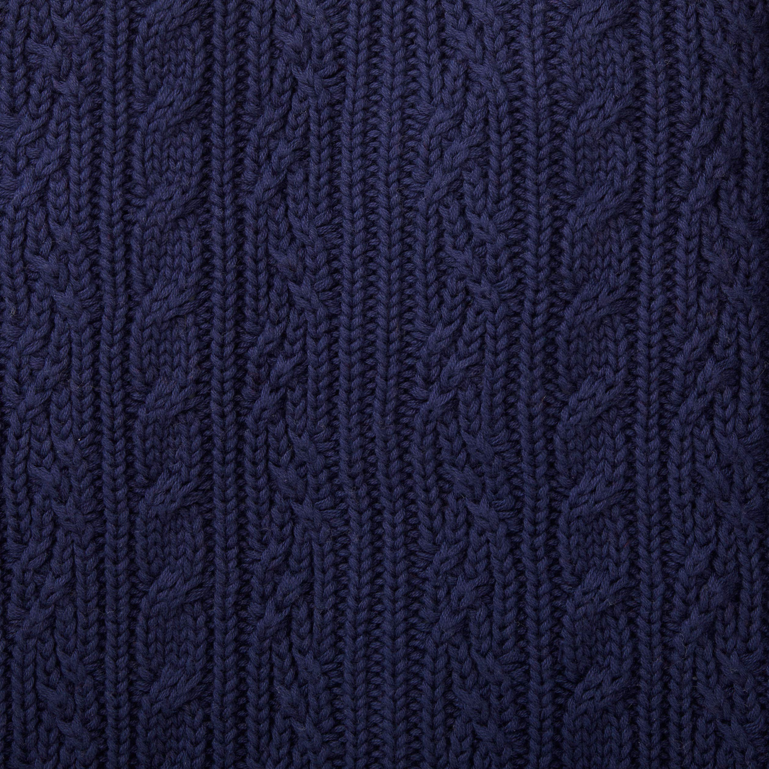 Hope & Henry Boys Navy Shawl Collar Cable Sweater by Hope & Henry (Image #4)