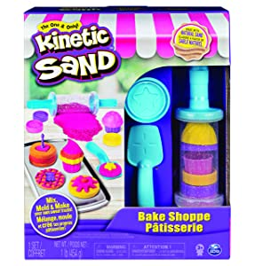 Kinetic Sand, Bake Shoppe Playset with 1Lb of & 16 Tools & Molds, for Ages 3 & Up