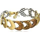 Lucky Brand Tri Tone Link Bracelet