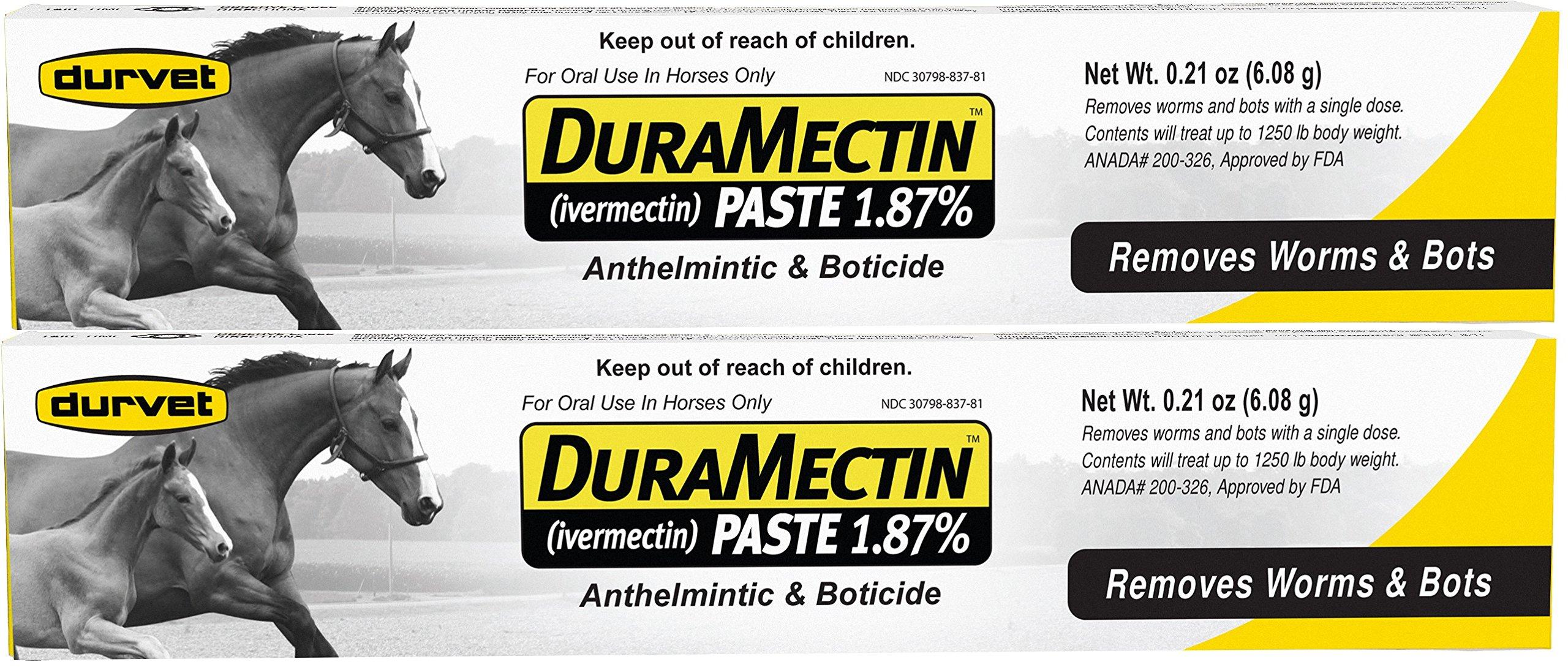 Duramectin Ivermectin Paste 1.87% Horse Wormer (2 Tubes) by Durvet