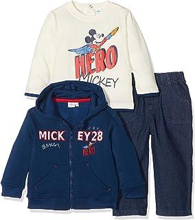e112f52fe0c14 Ensemble Jogging bébé garçon Mickey Marine et Rouge de 6 à 24mois ...