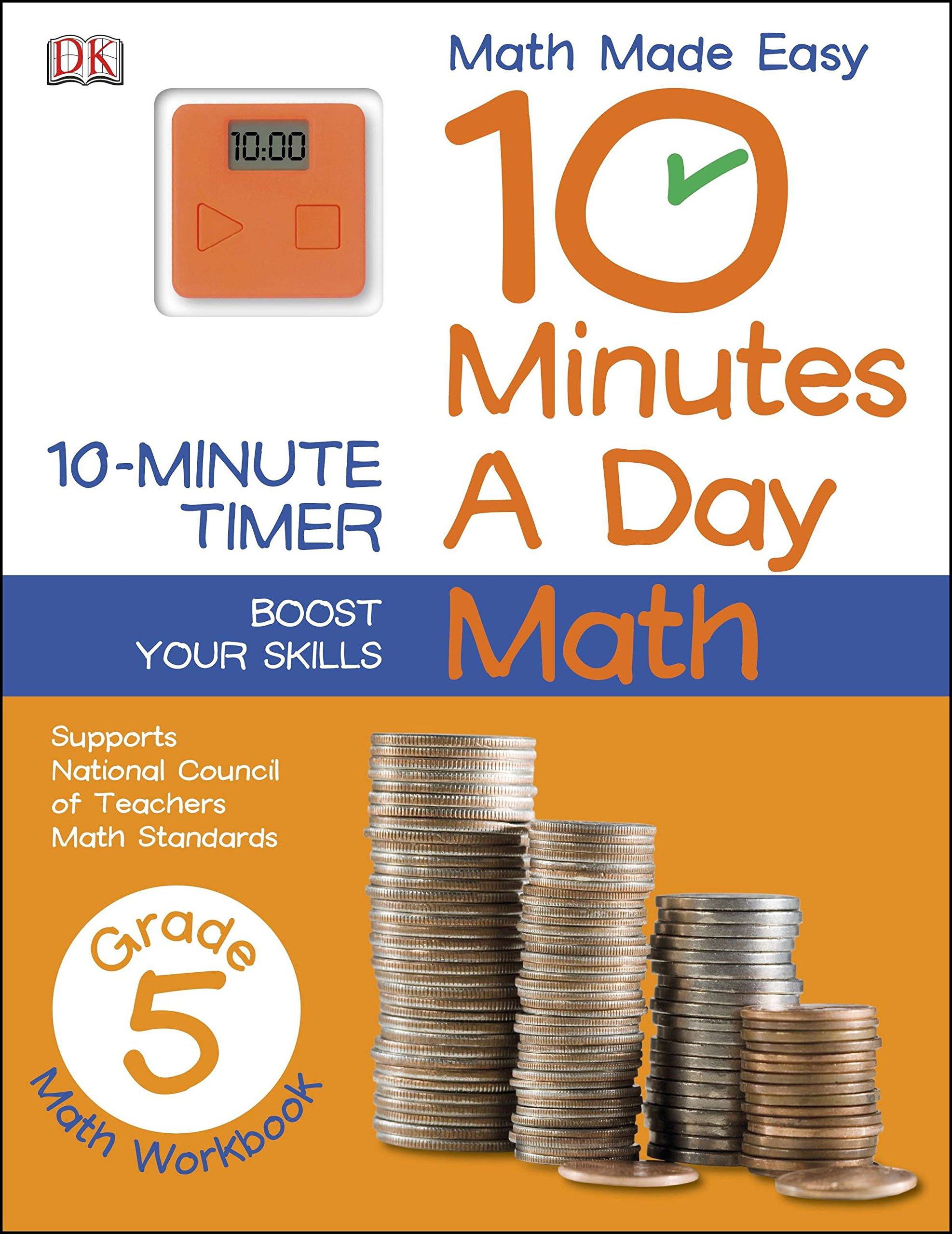 10 Minutes a Day: Math, Fifth Grade (Math Made Easy): DK: 9781465402301:  Amazon.com: Books