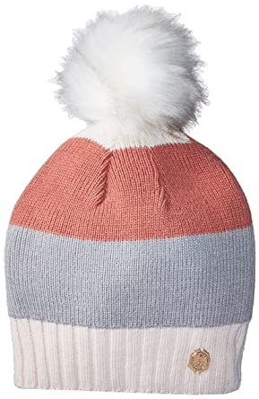 0920b73ff0989 Vince Camuto Women s Classic Colorblock Fur Pom Beanie