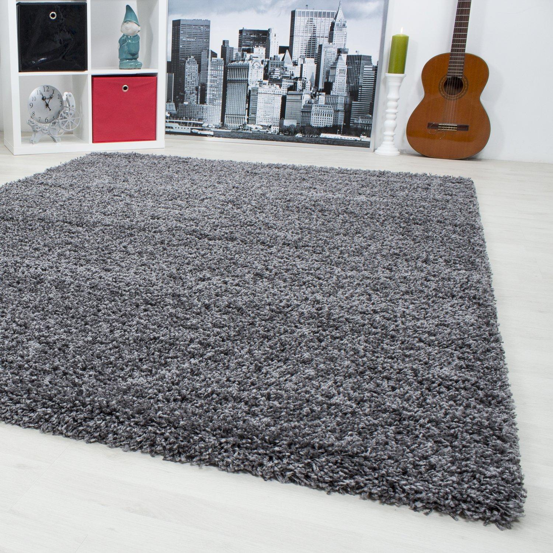 Hochflor Shaggy Teppich Langflor Carpet Wohnzimmer Einfarbig