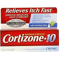 Cortizone-10 Max Strength Cortizone-10 Crme, 2oz Boxes (Pack of 2)
