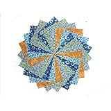 40 CARIBBEAN FLORALCHARM PACK 5 Inch Quilt Squares