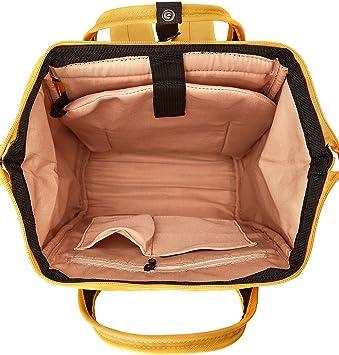 Kah Kee Polyester Laptop Rucksack Wasserdicht Anti Diebstahl Wickeltasche Universität Damen Herren Gelb Klein Koffer Rucksäcke Taschen