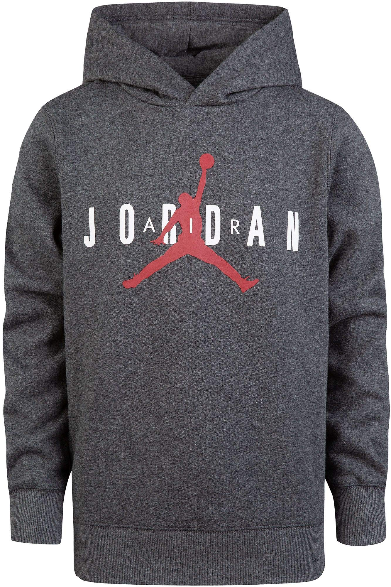 Jordan Boy's Air Fleece Hoodie (M, Charcoal Heather)