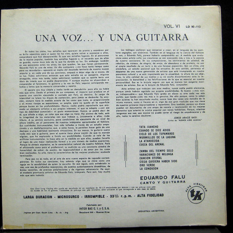 Amazon.com: EDUARDO FALU UNA VOZ Y UNA GUITARRA vinyl record ...