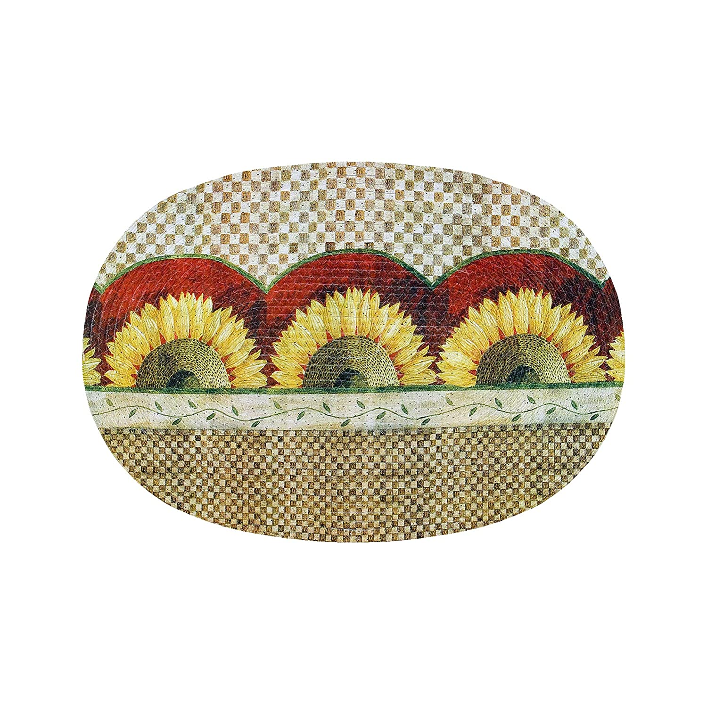 Achim Home Furnishings Braided Rug, 20-Inch by 30-Inch, Sunflower BRRUGSUN06