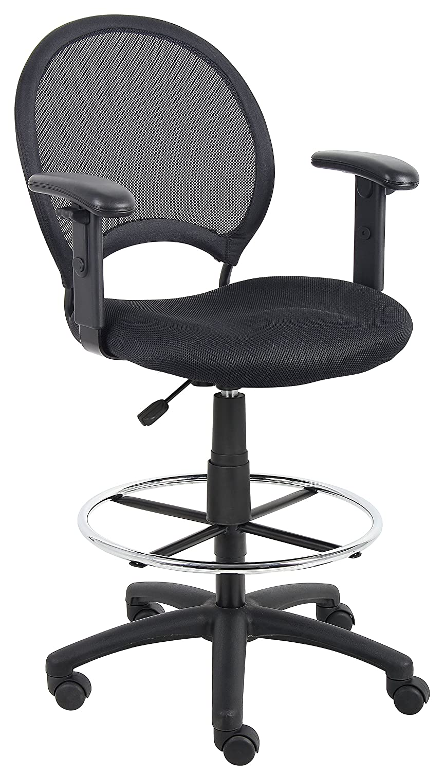 Amazon.com Boss Office Products B16216 Mesh Drafting Stool with Adjustable Arms in Black Kitchen u0026 Dining  sc 1 st  Amazon.com & Amazon.com: Boss Office Products B16216 Mesh Drafting Stool with ... islam-shia.org