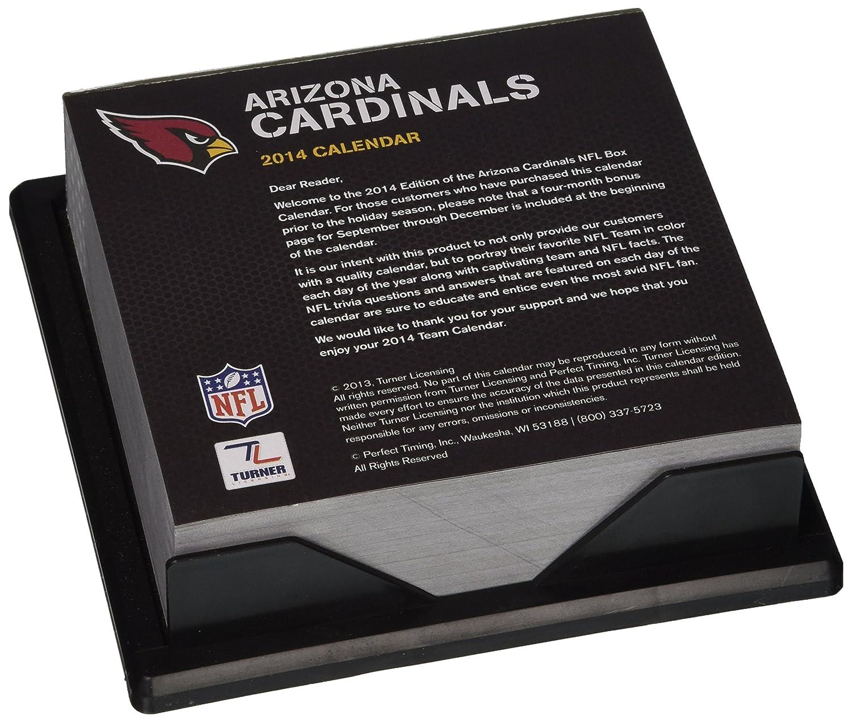 8051246 Perfect Timing 2014 Arizona Cardinals Box Calendar Turner