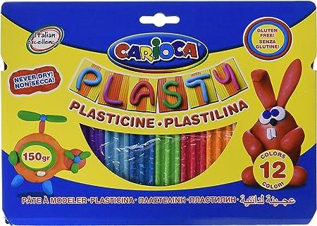 Carioca A35466910 - Pack de 12 barritas de plastilina: Amazon.es: Oficina y papelería