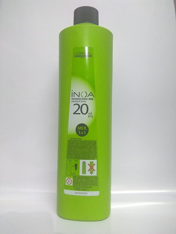 L'Oreal Professionnel Inoa Permanent Hair Colour with 6 Percent Oxidant, 1000 ml L' Oreal 0000004721
