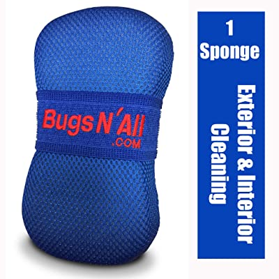 Bugs N All Car Care Bug Sponge with Ultra Soft Nano Microfiber Mesh for Scratch Free Scrubbing & Cleaning of Bugs, Road Grime, Tar, Pine and Tree Sap Pitch. 1 Sponge: Automotive