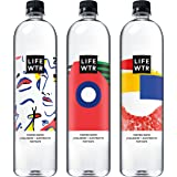 LIFEWTR, Premium Purified Water, pH Balanced with Electrolytes For Taste, 1 liter bottles (Pack of 6) (Packaging May Vary)