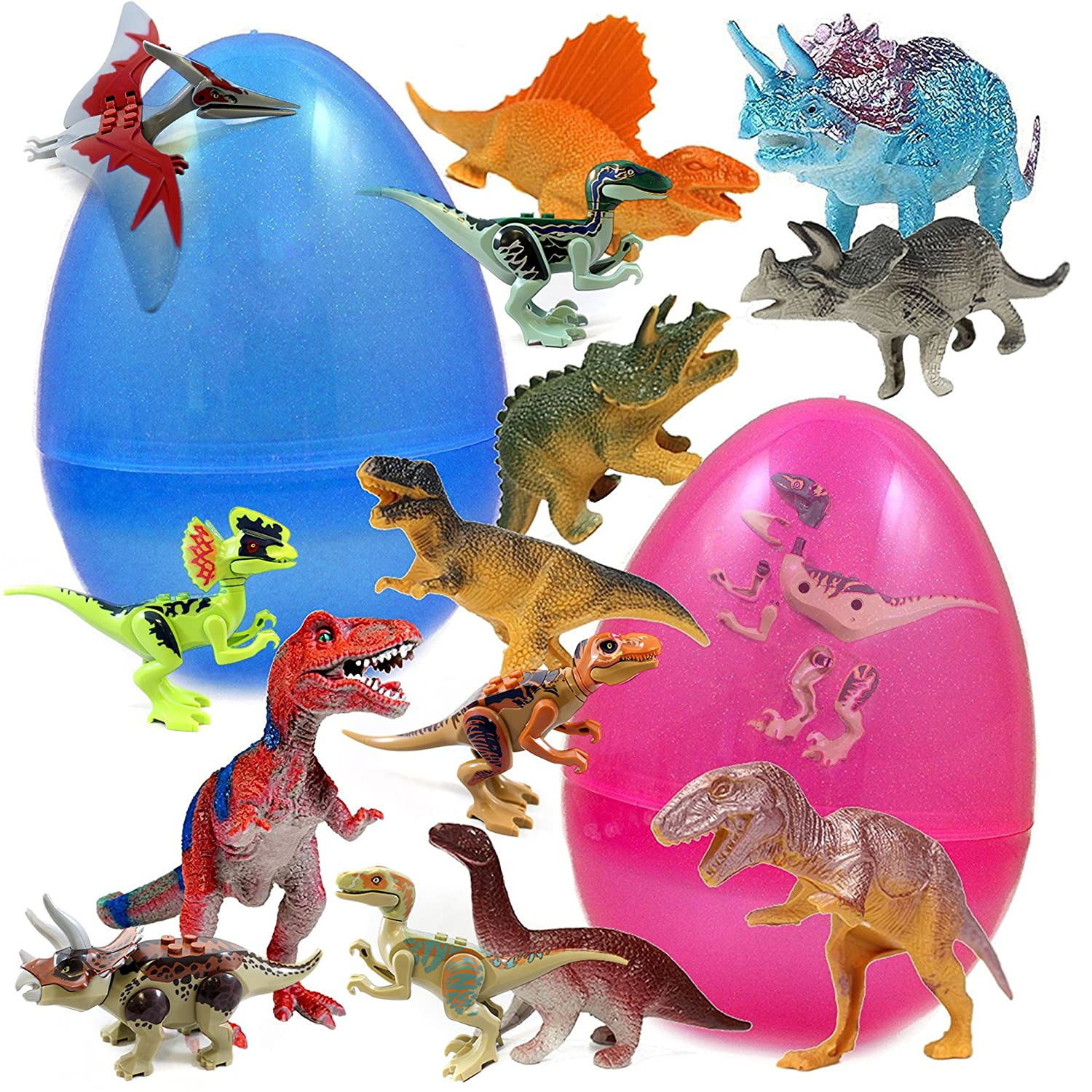 Durable Toys and High-Quality Prefilled Egg Moana Great Party Favors Dinosaur Baken 24 Figurines Toy Filled Jumbo Easter Egg Assorted Fun Characters Zootopia and More Trolls