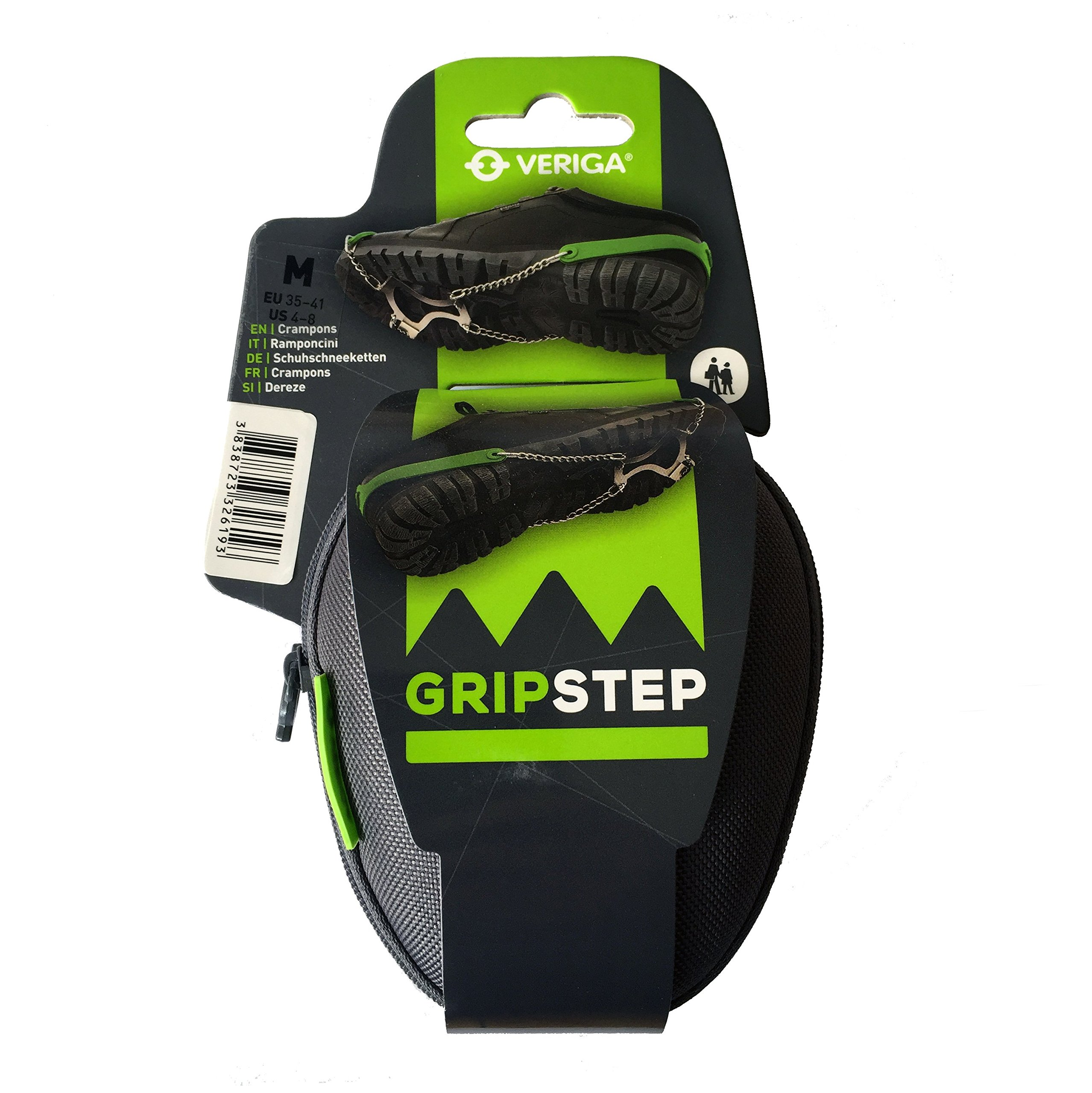 Veriga Gripstep Crampons Ice Traction Cleats, Medium (35-41 EU)