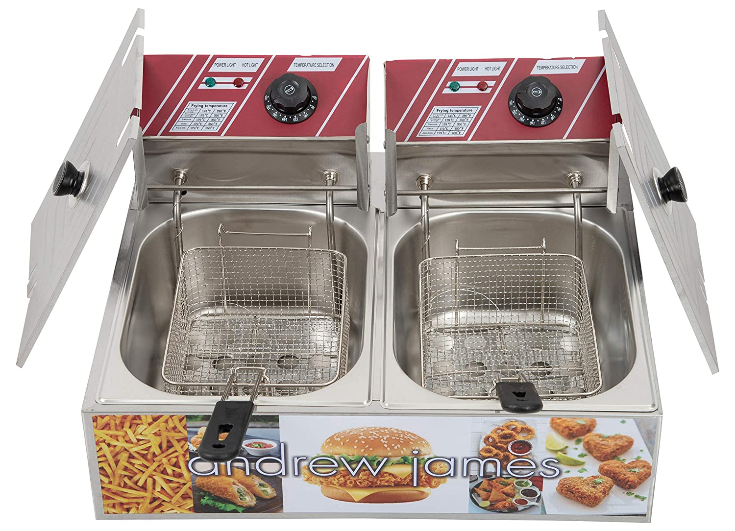 ANDREW JAMES Stainless Steel Deep Fryer 6 Ltrs, Silver