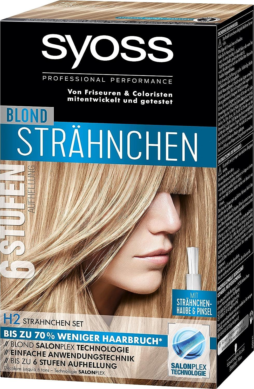Syoss Blond H2 Strähnchen Set Stufe 3, 3er Pack (3 x 95 ml) SBH2