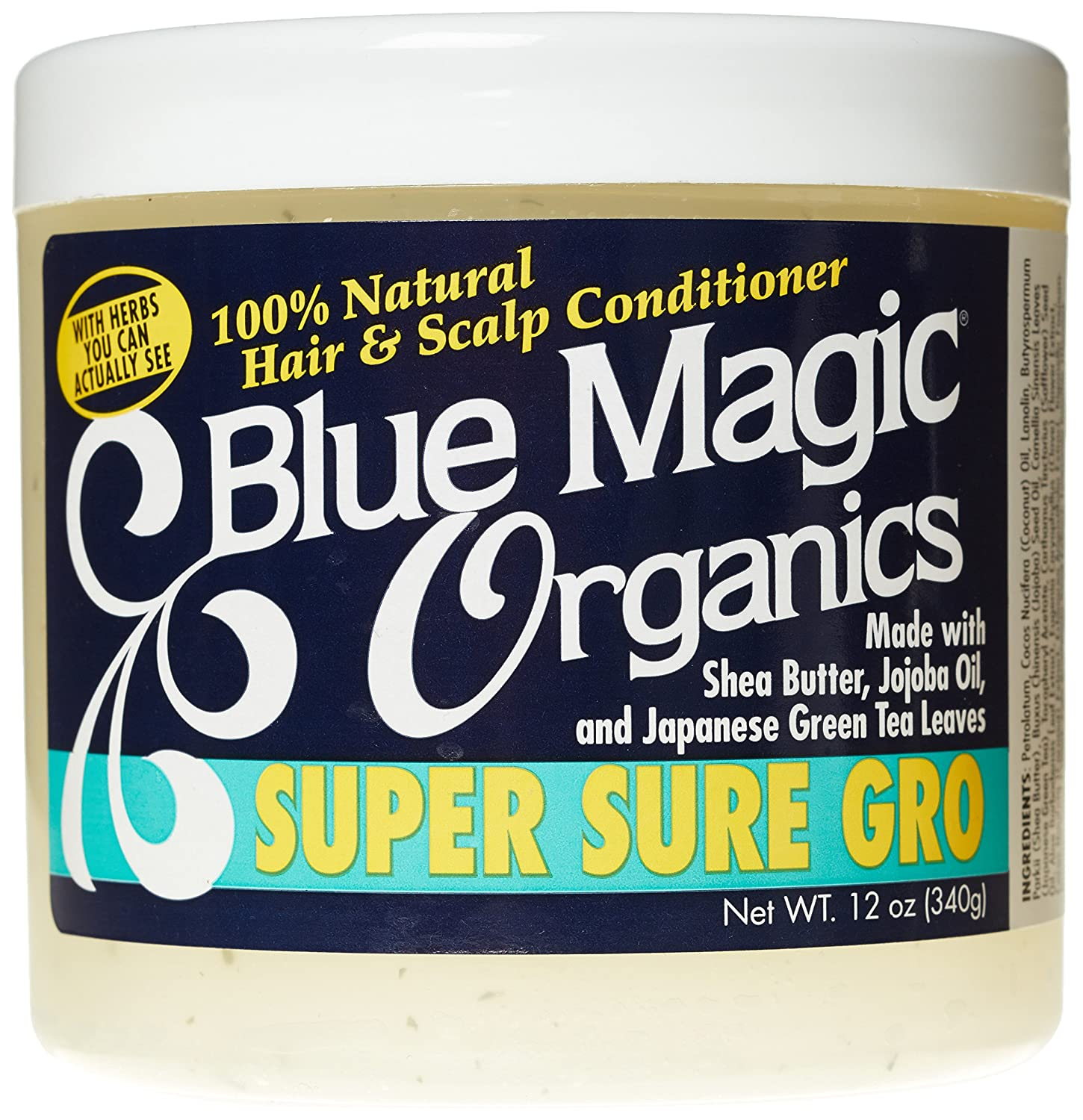 Amazon Com Blue Magic Super Sure Hair Growth Product 12 Ounce Hair Conditioners And Treatments Beauty