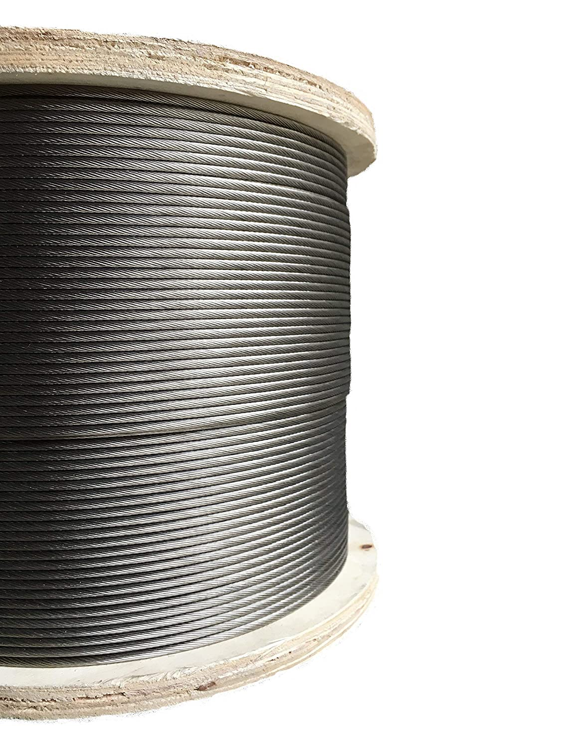 Image of Cable & Wire Rope 1000ft Stainless Steel Aircraft Cable Wire Rope 1/8' 1x19 Marine Grade Type 316 Grade