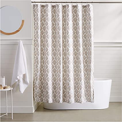 Image Unavailable Not Available For Color AmazonBasics Grey Diamond Shower Curtain