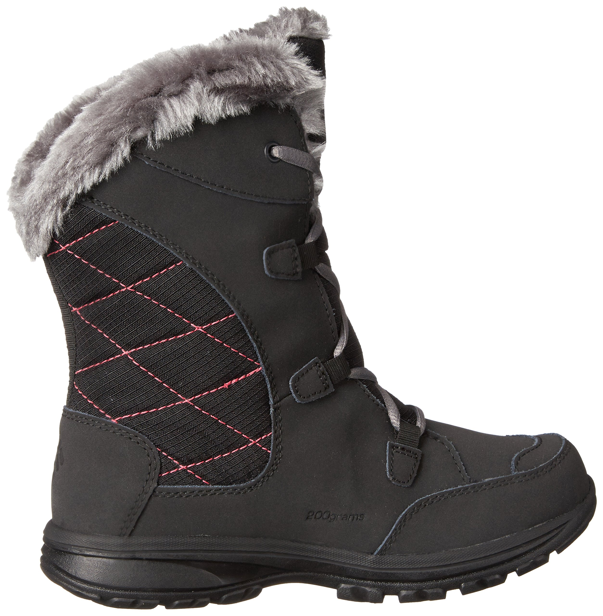 Columbia Youth Ice Maiden Lace Winter Boot (Little Kid/Big Kid), Black, 1 M US Little Kid by Columbia (Image #8)