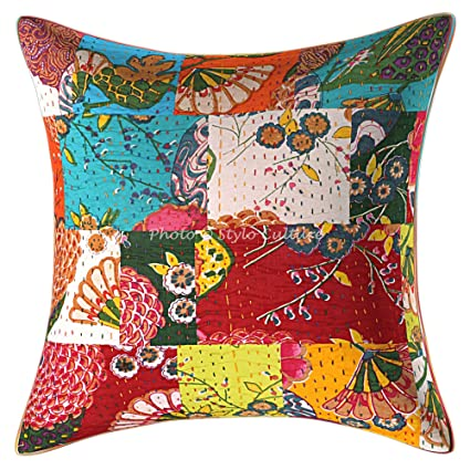 Amazon.com: Stylo Culture Ethnic Decorative Toss Pillow ...