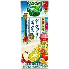 【ドリンクの新商品】カゴメ 野菜生活100 シークヮーサーミックス 195ml×24本