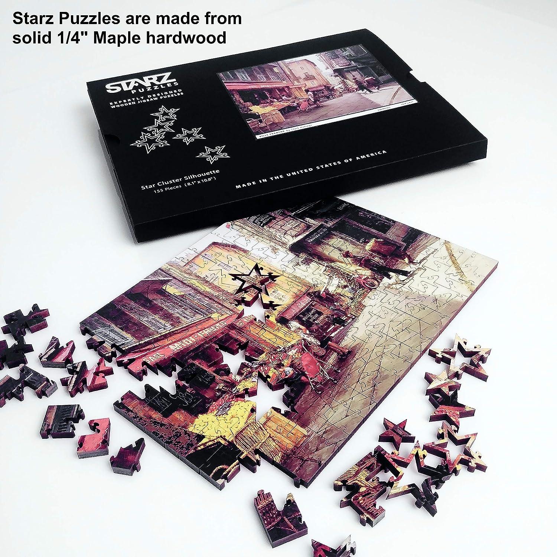 Starz Wooden Jigsaw Puzzle Artist Scott Harding Exploring a Creek