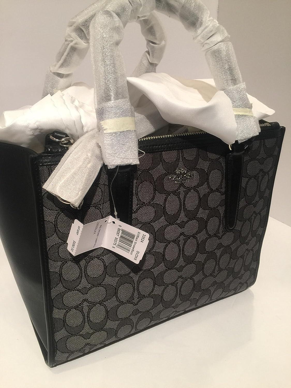 COACH Women s Signature Crosby Carryall SV Black Smoke Black Handbag   Handbags  Amazon.com 9052c89ce087a