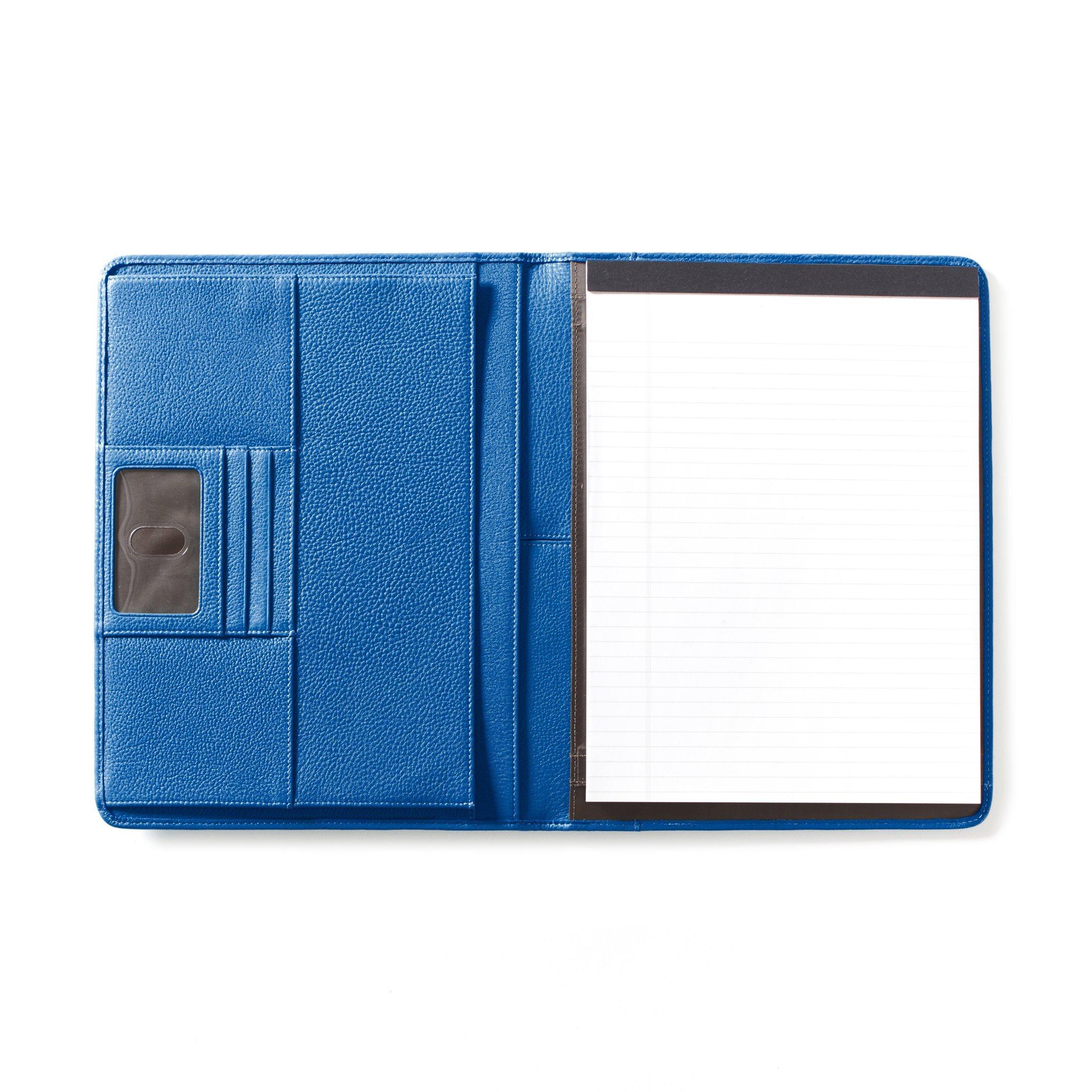 Leatherology Deluxe Portfolio - Full Grain Leather - Cobalt (blue)