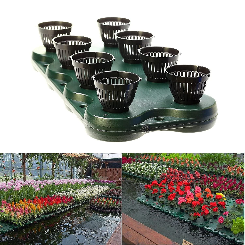 8Plugs  1pc Aquaponics Floating Pond Planter Basket- Hydroponic Island Gardens by Aquarium Supplies