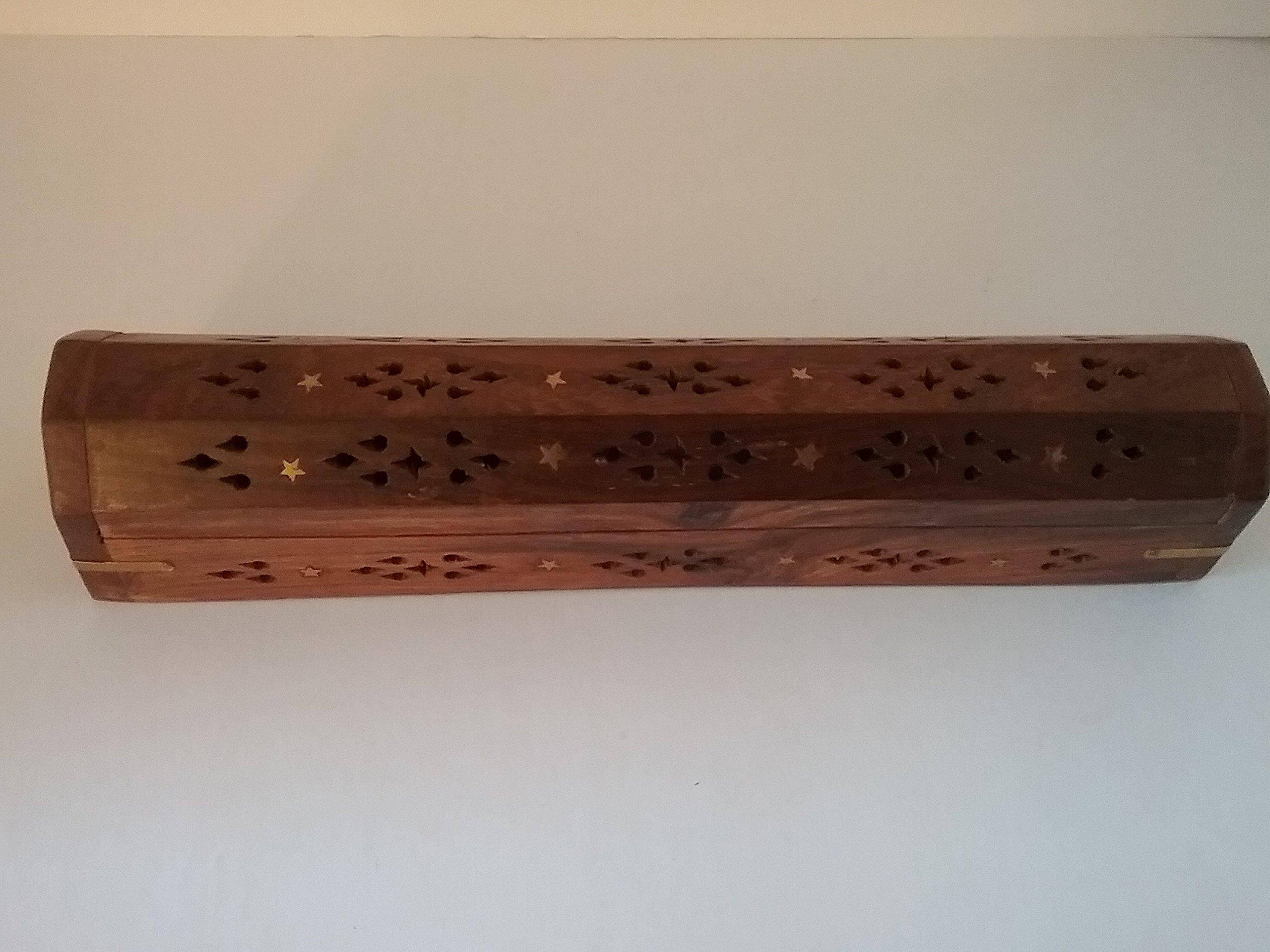 Wooden Coffin Incense Holder