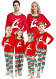 Matching Family Christmas Pajamas Boys Girls Elk Jammies Children PJs Gift Set
