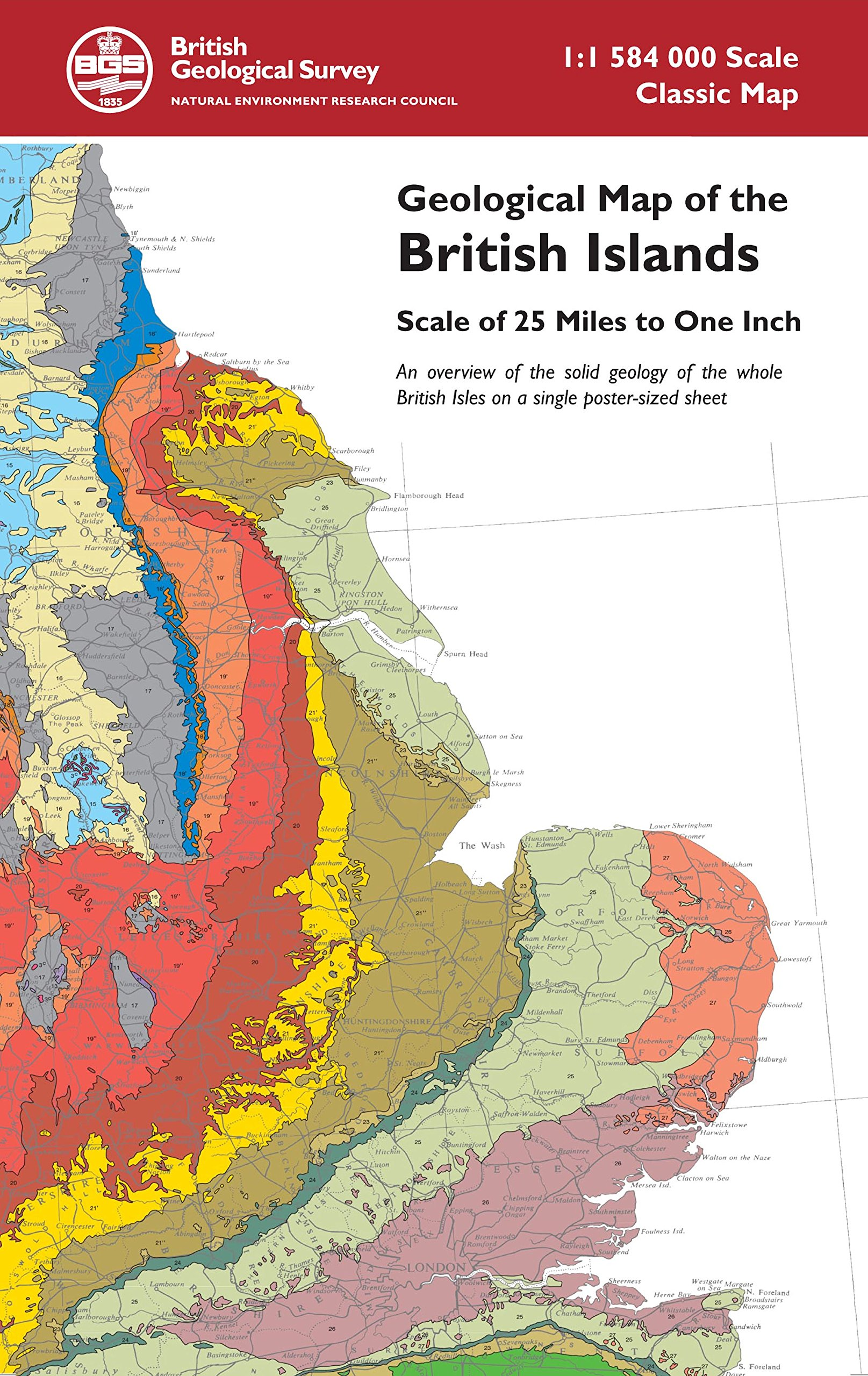 Geological Map of the British Islands  An overview of the bedrock