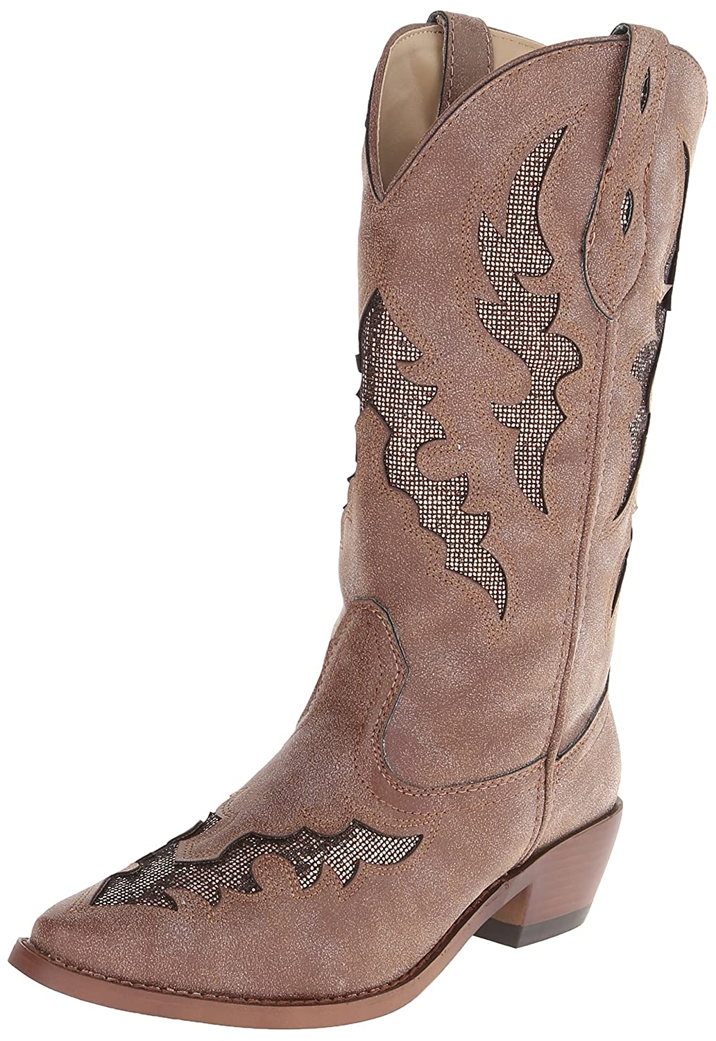 Roper Women's Snippy Glitter Western Boot B00E54N1ZI 7.5 B(M) US|Brown