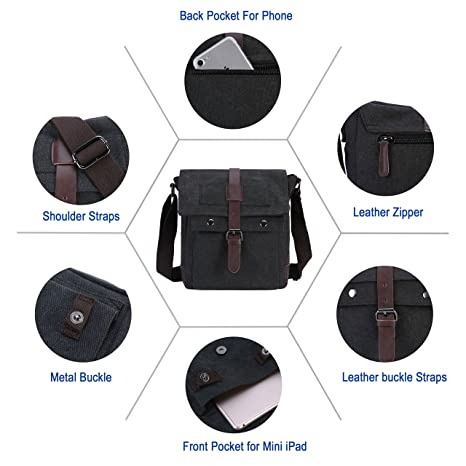 42524d06a127 Wowelife Canvas Messenger Bag Small Vintage Canvas Shoulder Bag Tactical  Military Crossbody Pack for Daily Use,Hiking and Traveling