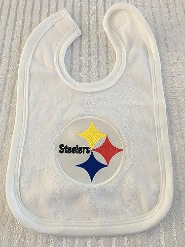 d77d3bebc Amazon.com: Steelers Baby, Custom Baby Bib, Personalized Baby Gift, Baby  Shower Gift, Football Baby Bib, Pittsburgh Steelers Baby Gift: Handmade