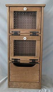 Amazon.com: Primitive Storage Cubby Potato Onion Bin Cabinet w ...