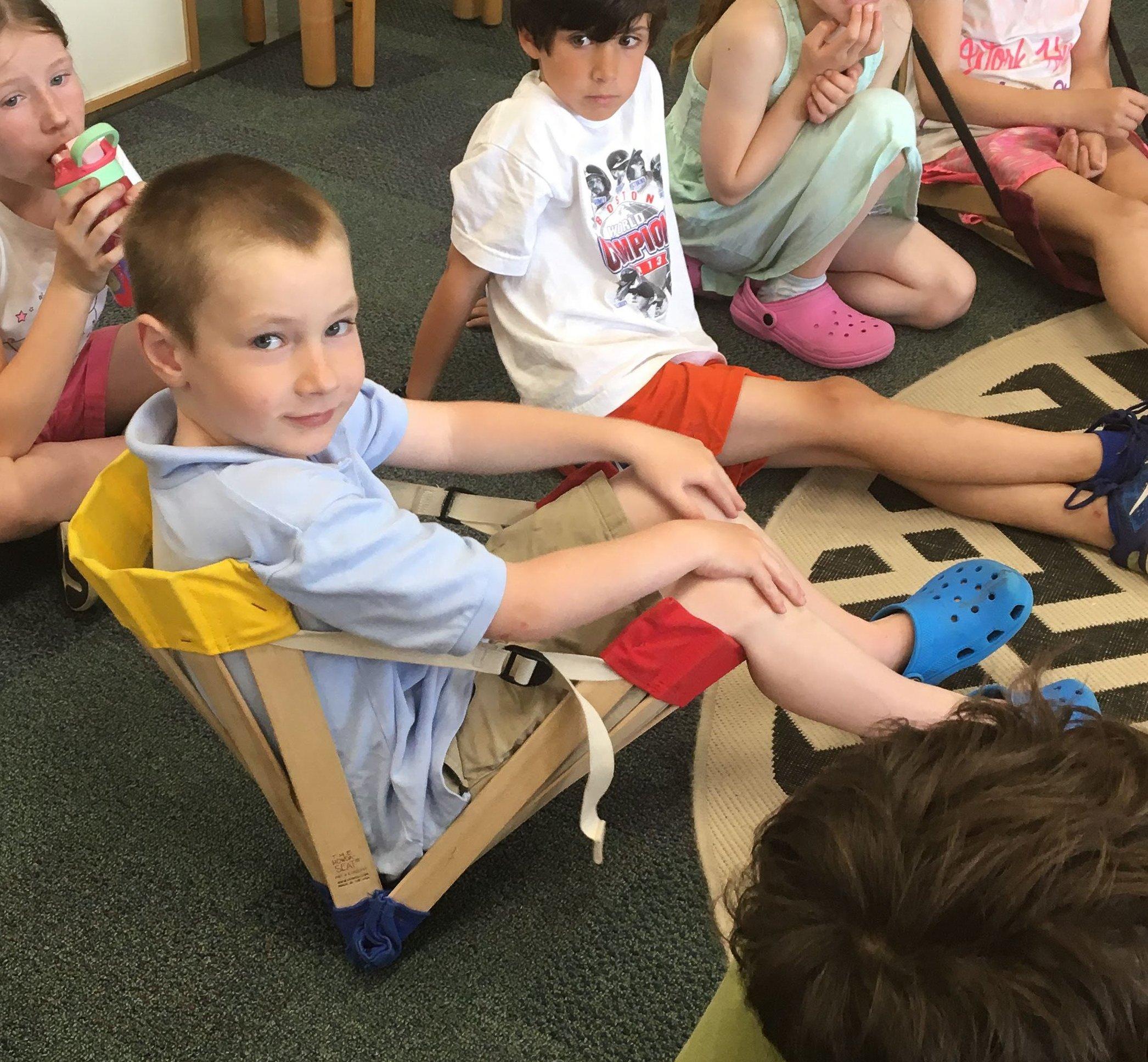 HowdaHUG Petite - Flexible, Sensory Seat for Classroom Seating - Cobalt Blue