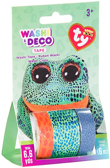 Amazon.com  Darice TY Beanie Boo Speckles Sococles The Frog Washi Tape d82c22d236e