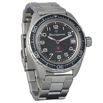 Vostok Komandirskie 200 WR - Reloj de pulsera mecánico automático para hombre # 020706: Amazon.es: Relojes